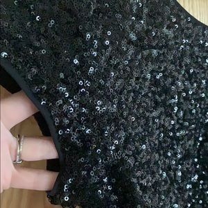 Express Tops - Express cropped sequin top
